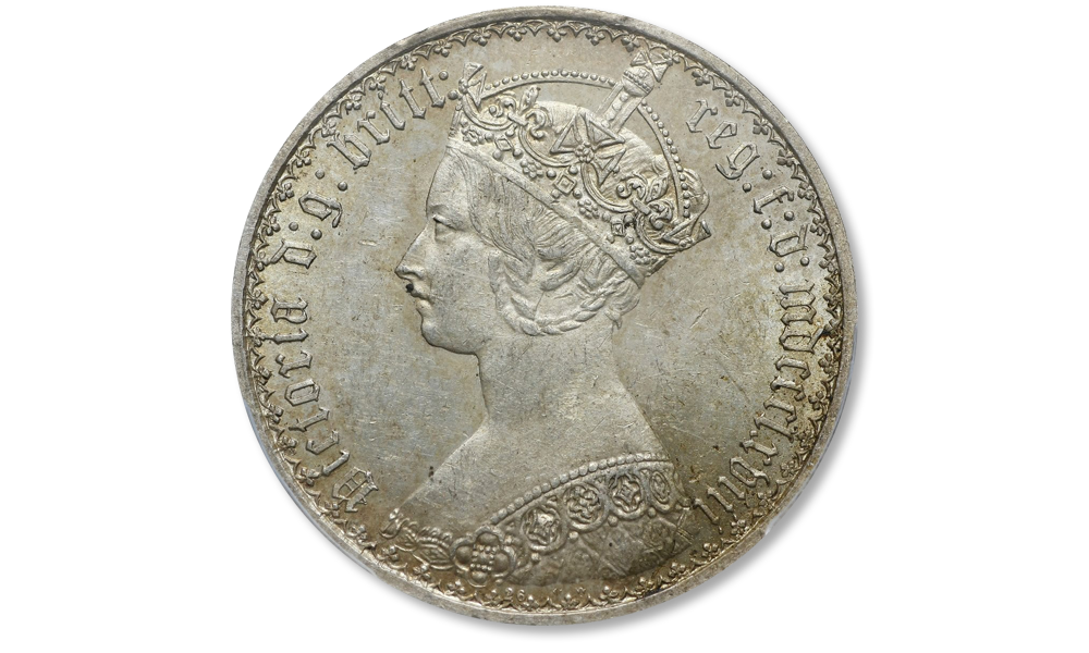 suwereny-królowej-Wiktorii-gotycki-portret