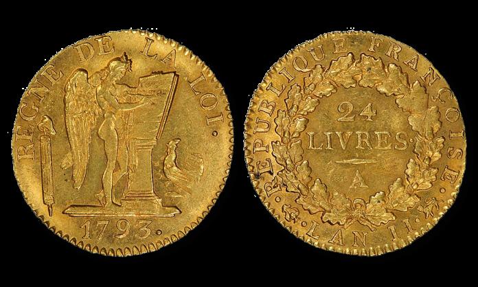 Szczęśliwy Anioł. Złota moneta republikańskiej Francji 1793