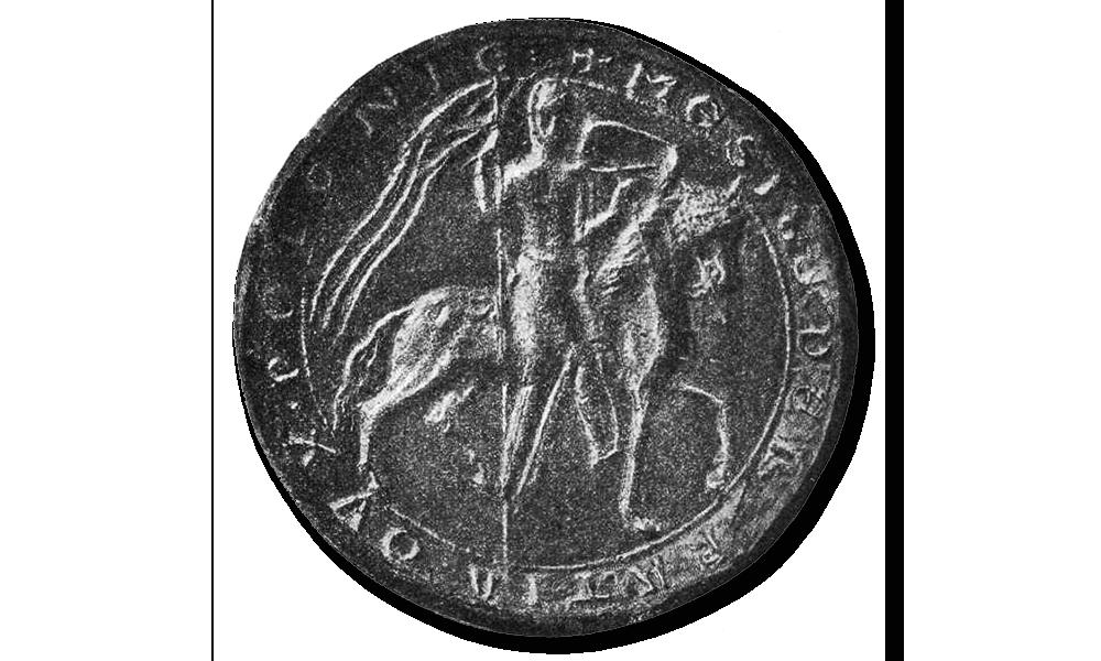 Brakteaty MIeszka III. Pieczęć majestatyczna