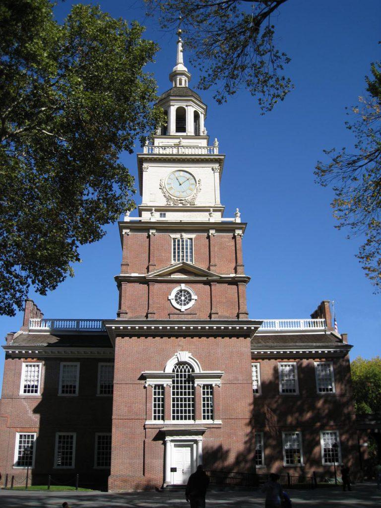 Deklaracja NIepodległości - dokument podpisany w Independence Hall w Filadelfii