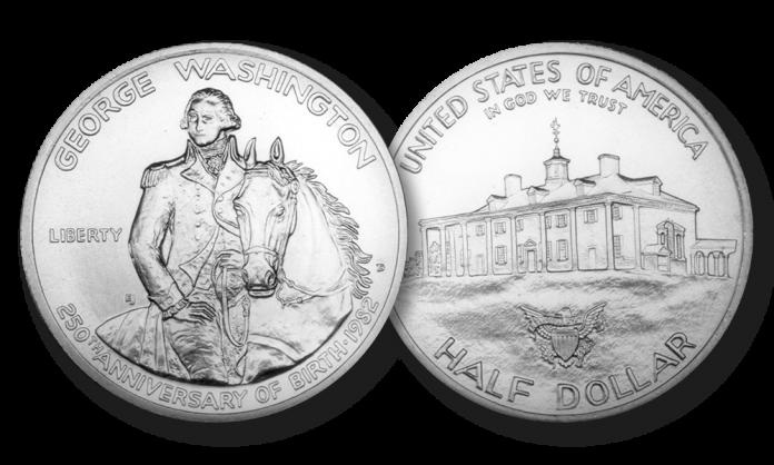 George Washington na srebrnej półdolarówce