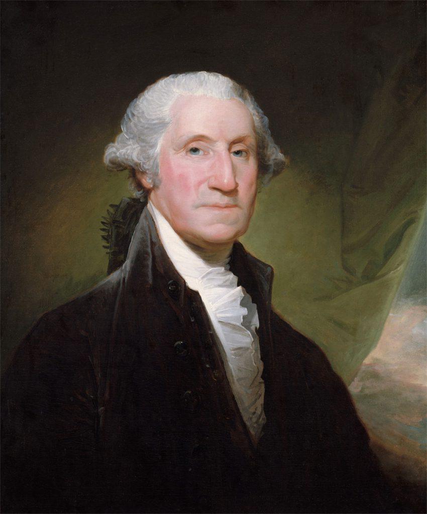 George Washington - portret namalowany przez Gilberta Stewarta