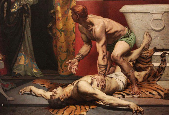 Kommodus i jego śmierć. Obraz
