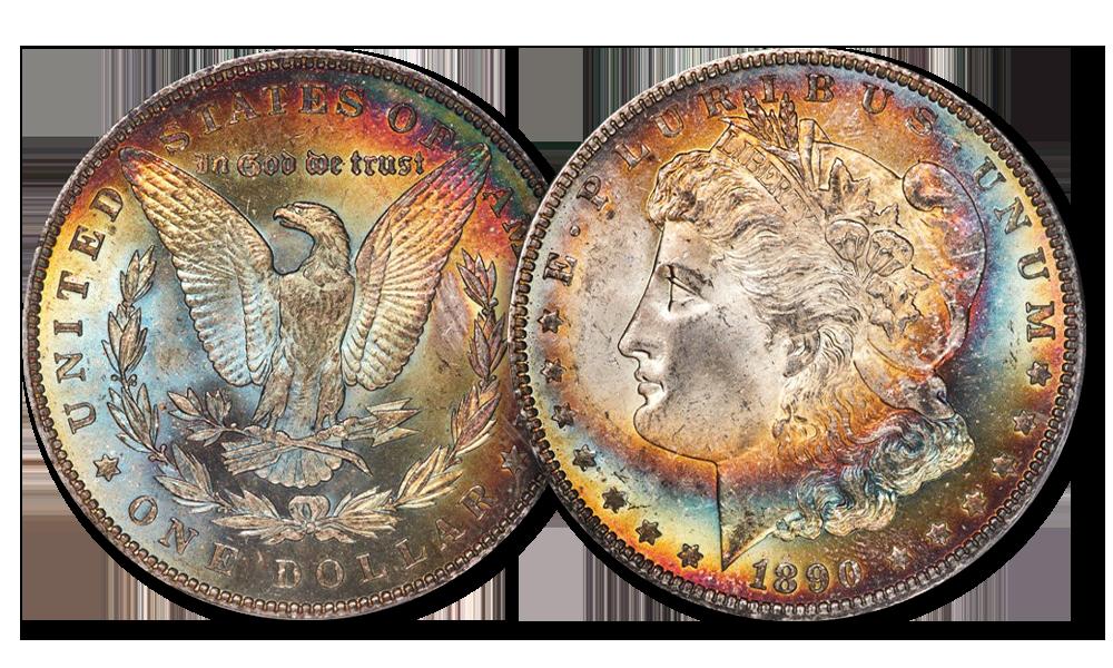 Patyna. Dolar Morgana z 1890 roku