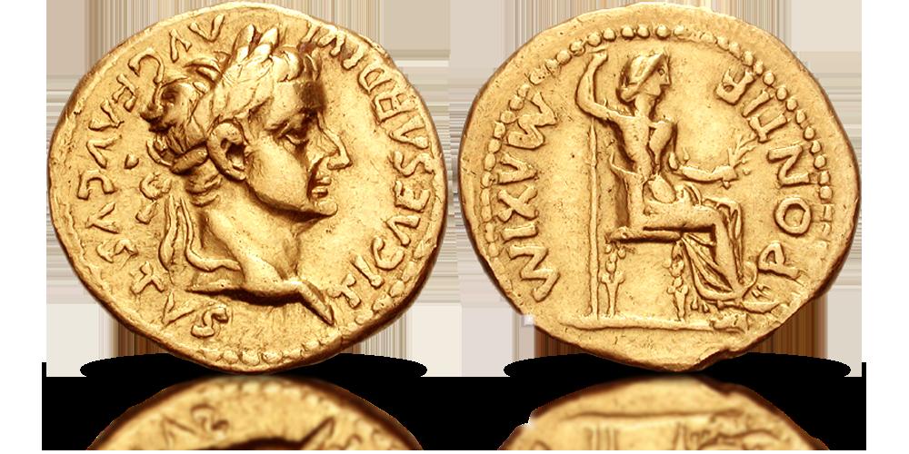 Tyberiusz i jego złoty aureus.