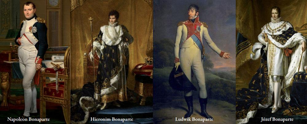 czterech braci Bonaparte - portrety