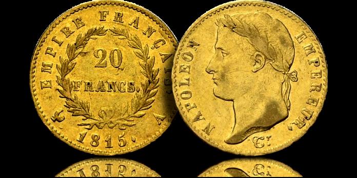 Napoleon Bonaparte na złotej monecie