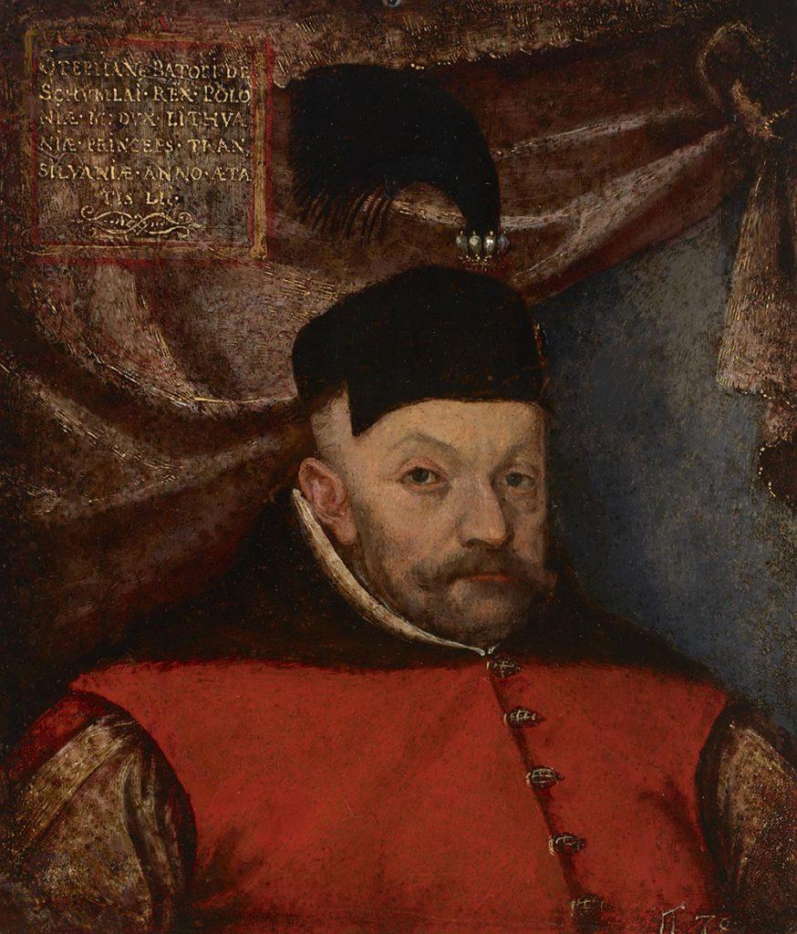 Stefan Batory. Portret z warsztatu Marcina Kobera