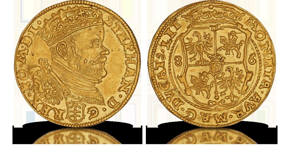 Stefan Batory na dukacie królewskim